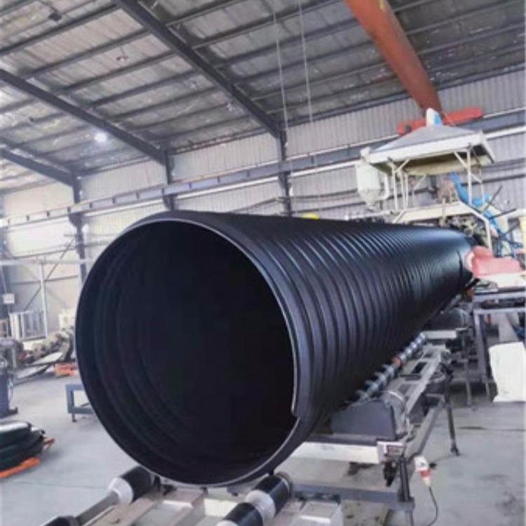 厂家直销HDPE钢带增强波纹管DN1000 pe排水管钢带管价格新货供应服务信息