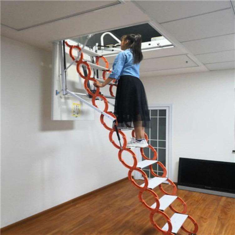 室内折叠楼梯 升降楼梯 伸缩楼梯