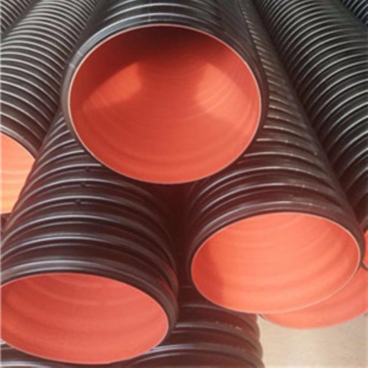 文安双壁波纹管排水管 DN500大口径管 hdpe钢带增强波纹管多钱一米厂家直销
