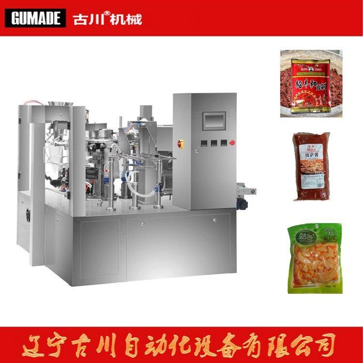 包装机 给袋式包装机 酱料给袋包装机 食品给袋式包装机