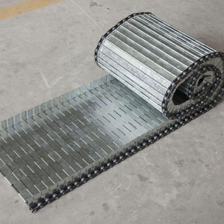 活性炭输送链板 清洗机输送链板 蔬菜清洗机冲孔链板 提升机输送链板