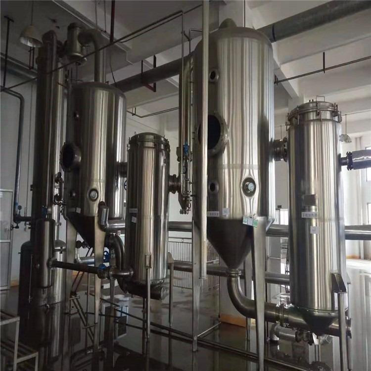 购销二手不锈钢双效浓缩蒸发器 二手不锈钢列管蒸发器  二手10平方降膜蒸发器
