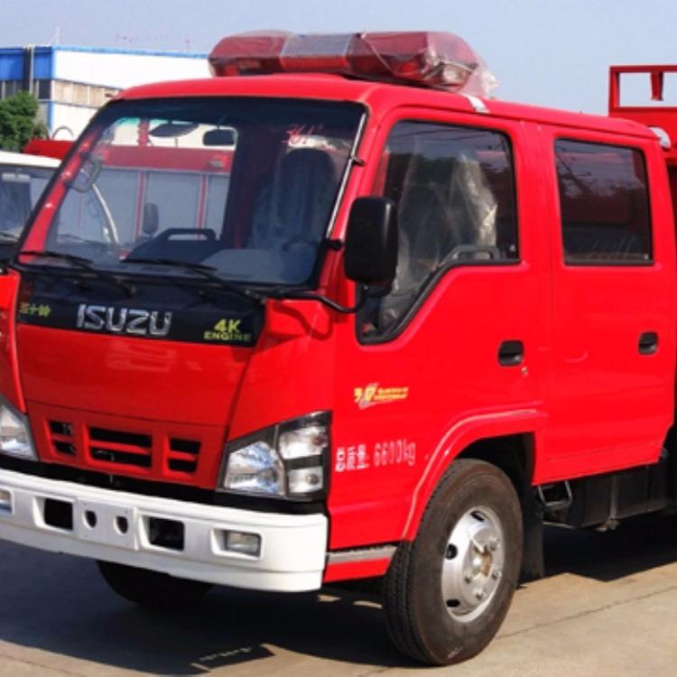 五十铃4吨水罐消防车技术规格书 消防车厂家 4吨水罐消防车价格