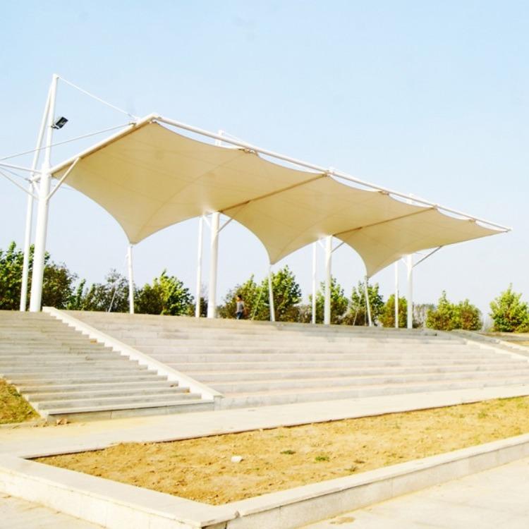 钢膜结构雨棚 看台膜结构遮阳棚