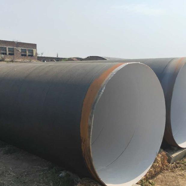 露天管道529*7聚氨酯底漆防腐螺旋钢管电厂排水管道环氧富锌防腐螺旋钢管厂家