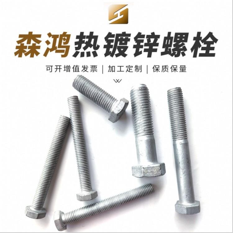 厂家直销六角螺栓 热镀锌穿钉 100*16穿钉 全扣穿钉螺栓 抱箍用穿钉