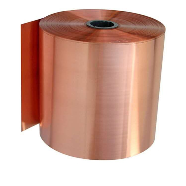 福州高纯度C1100紫铜箔 0.01 0.02 0.05 0.1mm ,导热T2紫铜带, 现货分切加工