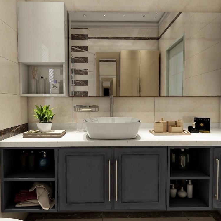 全铝挂墙式 铝合金浴室柜组合 全铝浴室柜 防水浴室柜 浴室柜铝材 全铝家具包邮定制
