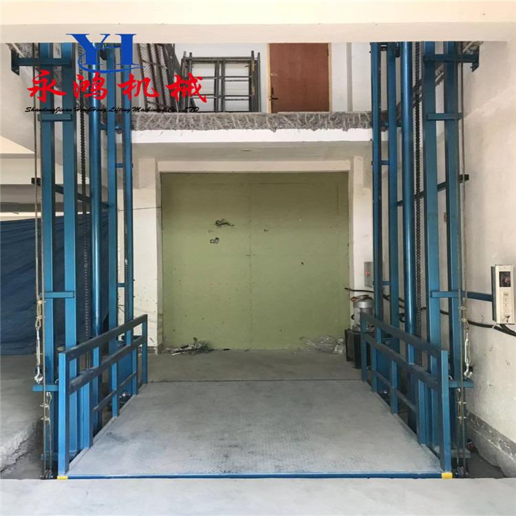 永鸿专业安装SJD双轨式液压货梯 不锈钢轿厢电动升降台