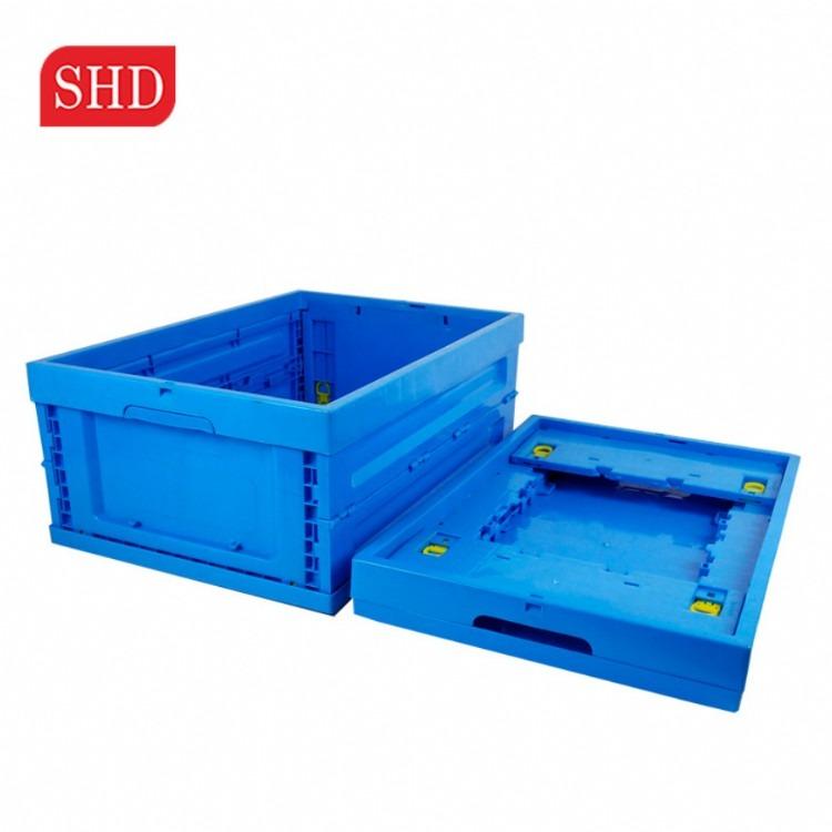 厂销可带盖塑料折叠式周转箱工具箱收纳周转箱超市运输储物箱