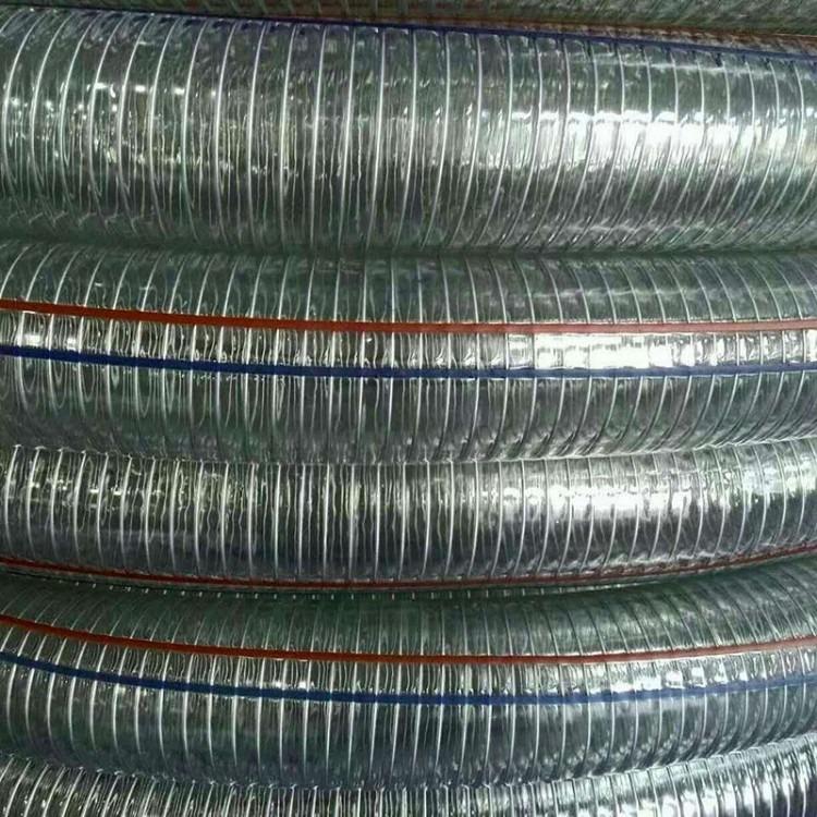 天津兴盛牌透明螺旋钢丝管 防冻钢丝管 耐低温透明钢丝管生产厂家