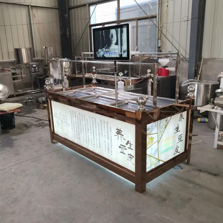全套节能环保  腐竹豆加工设备油皮机 自动控温 半自动腐竹 豆制品加工设备油皮机 油皮加工设备