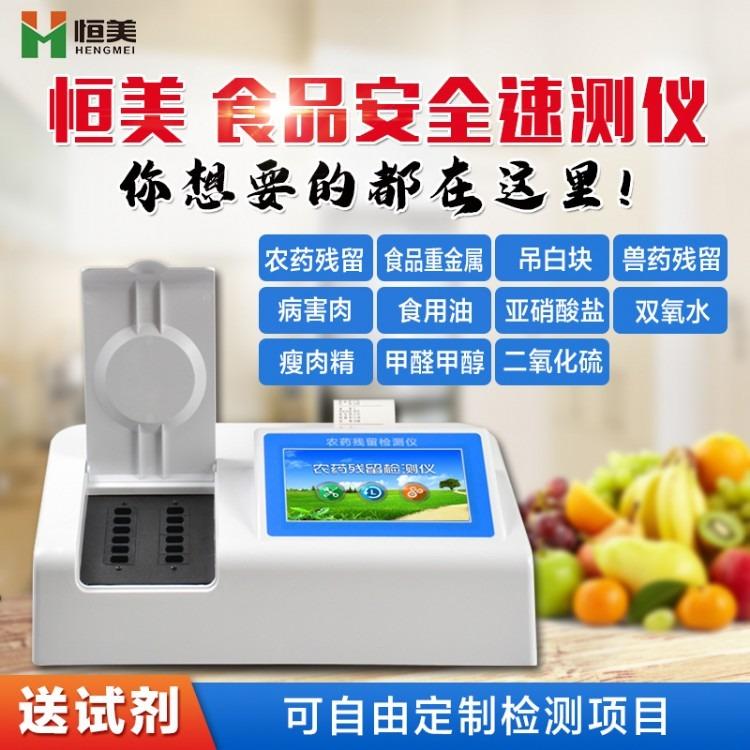 高智能食品安全检测仪 高精度食品安全检测仪HM-SP08 食品安全检测仪恒美