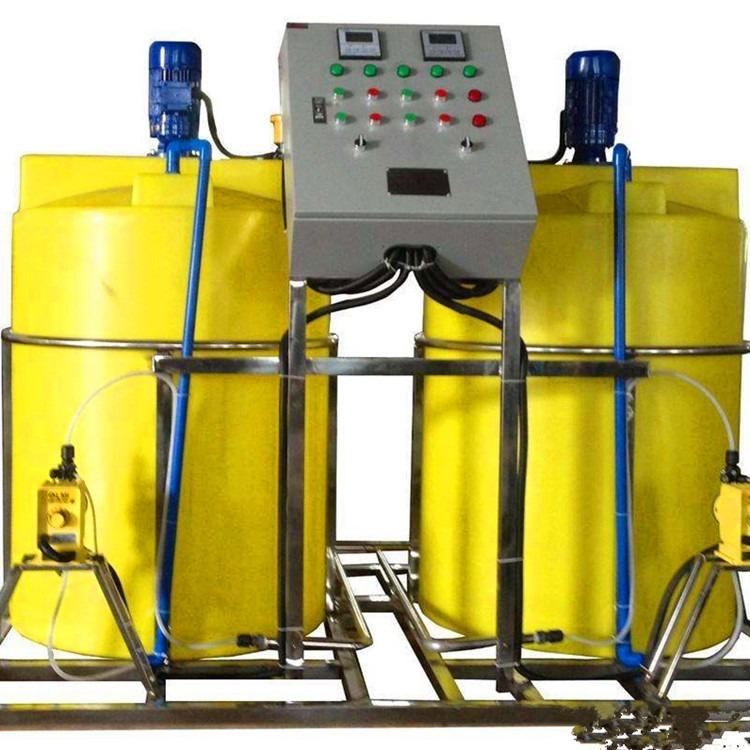 学校加药装置 双桶加药装置 塑料加药装置 干粉投加装置