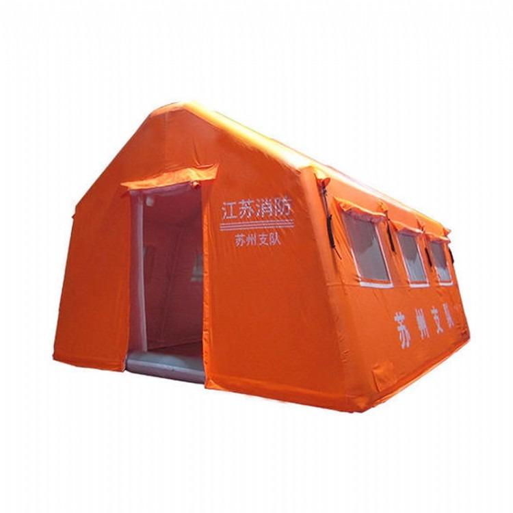 豪斯救援充气帐篷野外指挥橘色气棚消防赈灾抗洪充气帐篷,抢险应急救灾帐篷,应急消防帐篷,黄色充气帐篷