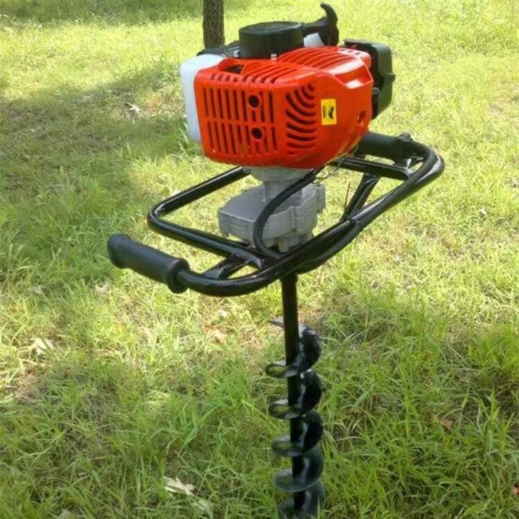 山地硬土质小型汽油挖坑机 树木打孔挖坑机 手扶式汽油树木挖坑机