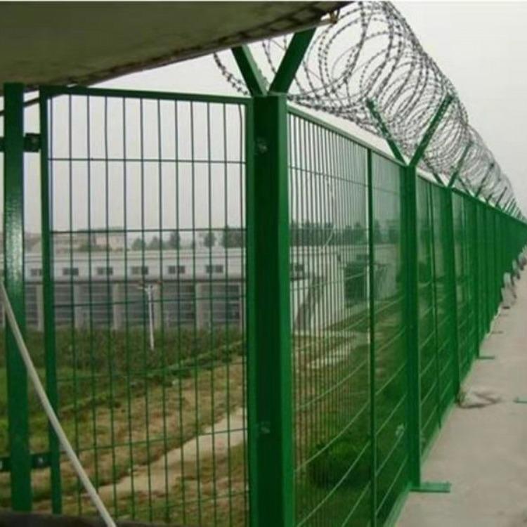 金路护栏  丝网护栏荷兰网厂家直销江苏苏州双边丝网围栏隔离护栏网浸塑护栏网
