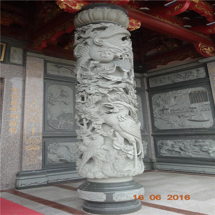 低价出售青石龙柱花岗岩石雕文化柱青石文化柱