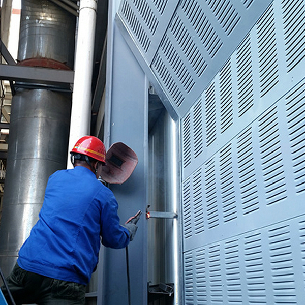 陕西延安广西水泵机组声屏障 南宁发动机隔音屏 冷却塔空调风机百叶声屏障