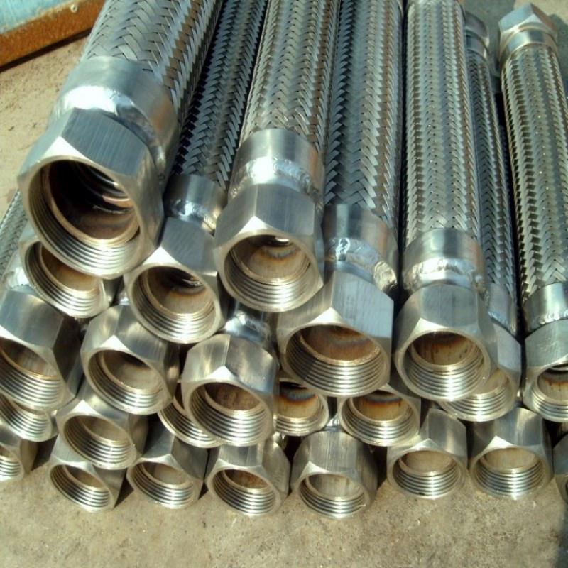 加工 法兰金属软管 316l法兰连接金属软管 不锈钢丝金属编织软管