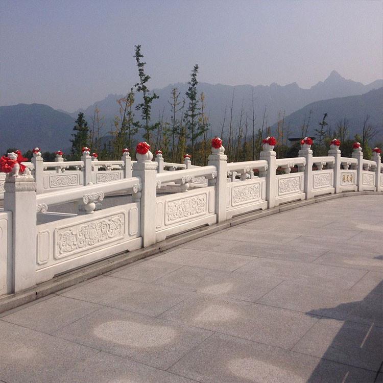 高性价 庭院护栏杆 汉白玉石栏杆 河道栏板