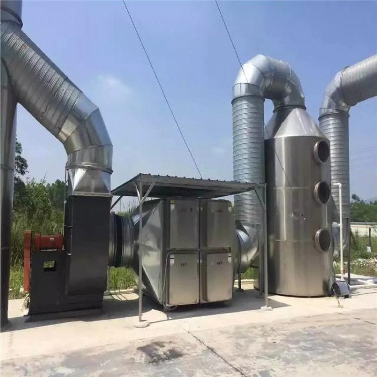 泰州废气处理 橡胶厂车间废气处理设备 硫化氢 烟尘等废气治理