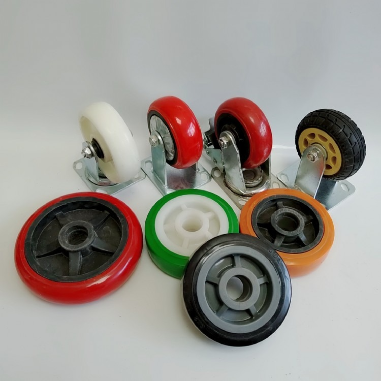 万向轮轮子滑轮带刹车重型脚轮小推车万向轮子 工业刹车万向轮