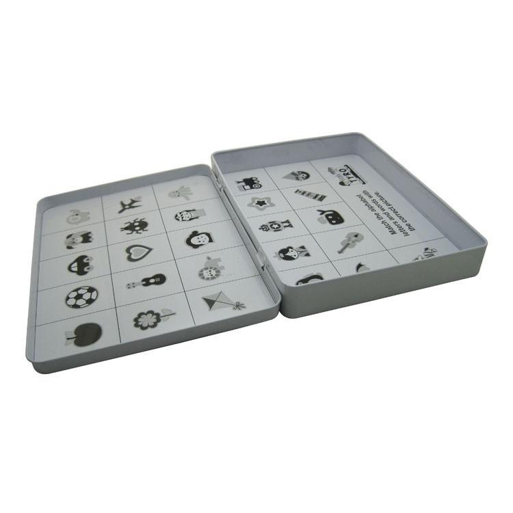东莞包装铁盒加工厂家供应卡片铁盒ABC儿童智力卡片铁盒子