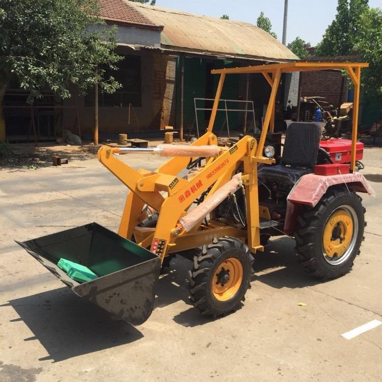 多功能轮式抓木机 工地农用小铲车 06型装载机 电启动小铲车