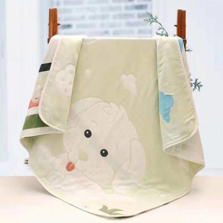 津津毛巾_六层高密纱布婴儿浴巾 纯棉泡泡纱童被 新生儿童毛巾被宝宝盖毯