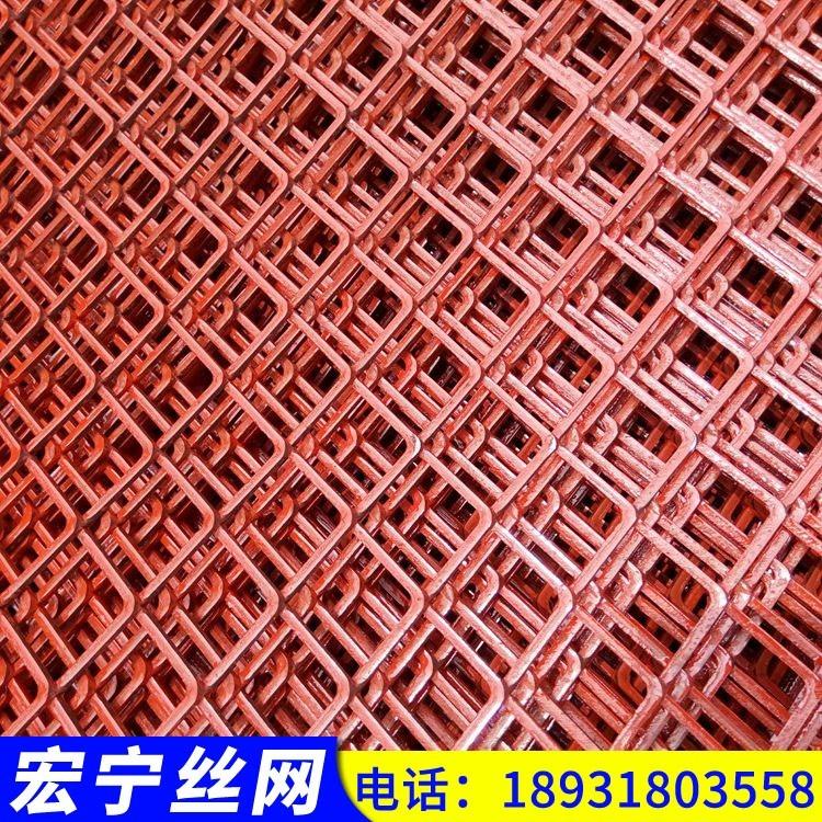 铁网片 菱形铁丝网 工地钢笆网片 浸漆钢笆片