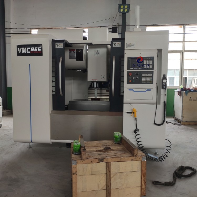 VMC855立式加工中心机床 三菱M80系统 圆盘刀库cnc数控加工中心机床