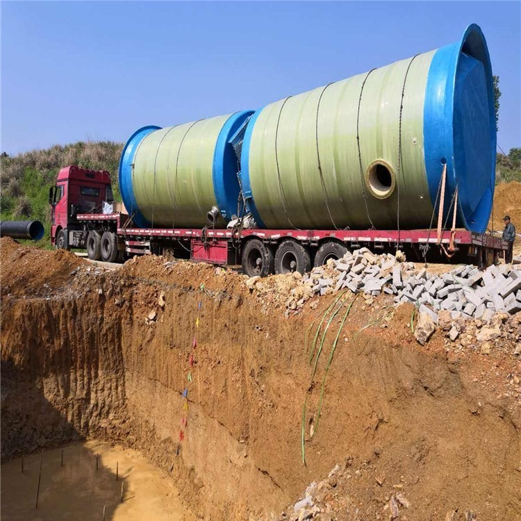 新型一体化雨水泵站 智能型玻璃钢地埋式一体化节能大型提升预制泵站