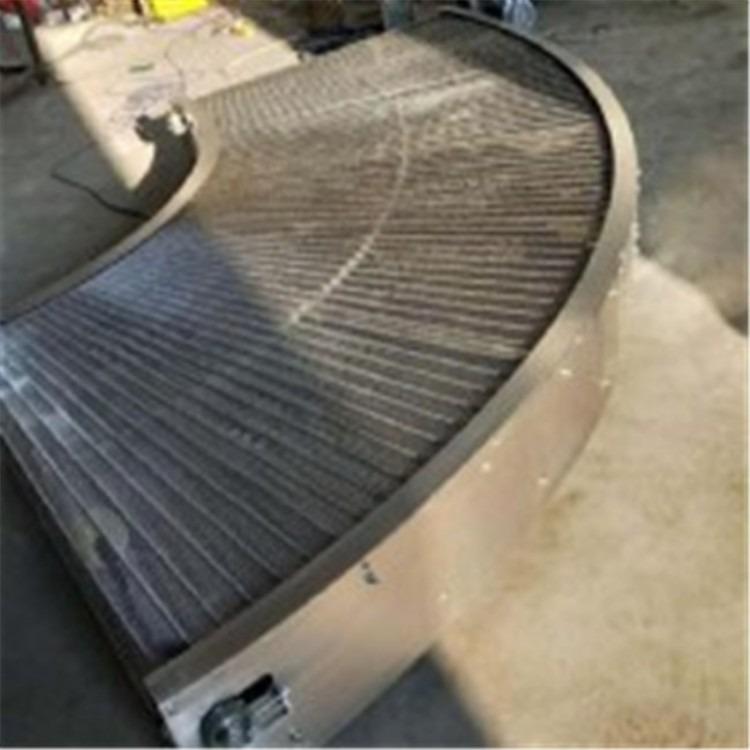 不锈钢链板输送机食品生产流水线输送设备 厂家非标定制链板转弯机