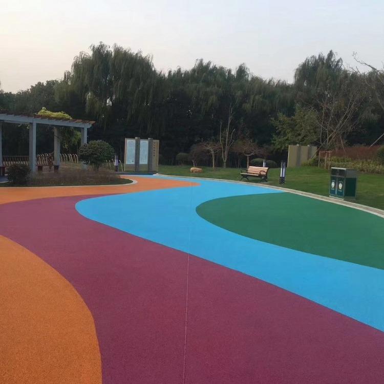 健身场 体育 运动 场馆地坪 篮球场 网球场   混凝土 透气透水彩色塑胶跑道 球场跑道