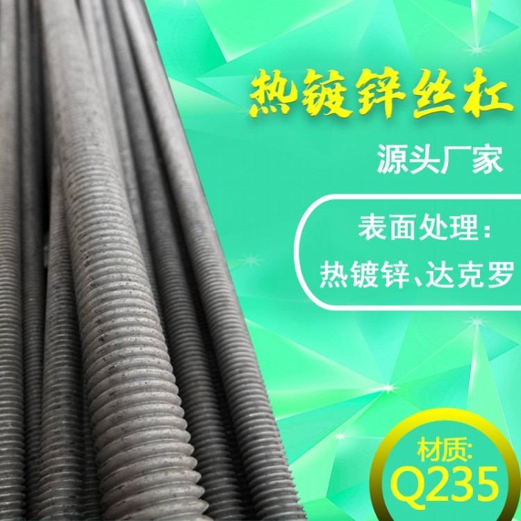 厂家生产 全牙螺杆 螺纹丝杆 螺纹杆 通丝吊杆 热镀锌高强度丝杠现货供应