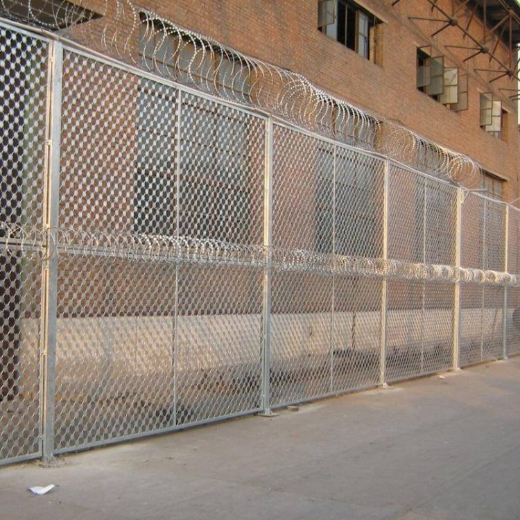 安平梅花刺钢网墙,梅花刺钢网墙多钱一米,防爬梅花刺钢网墙
