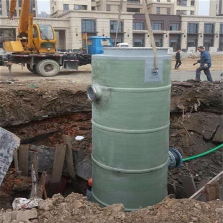 河北华强玻璃钢 提升泵站 一体化泵站 玻璃钢泵站 预制泵站 雨水泵站 中转泵站