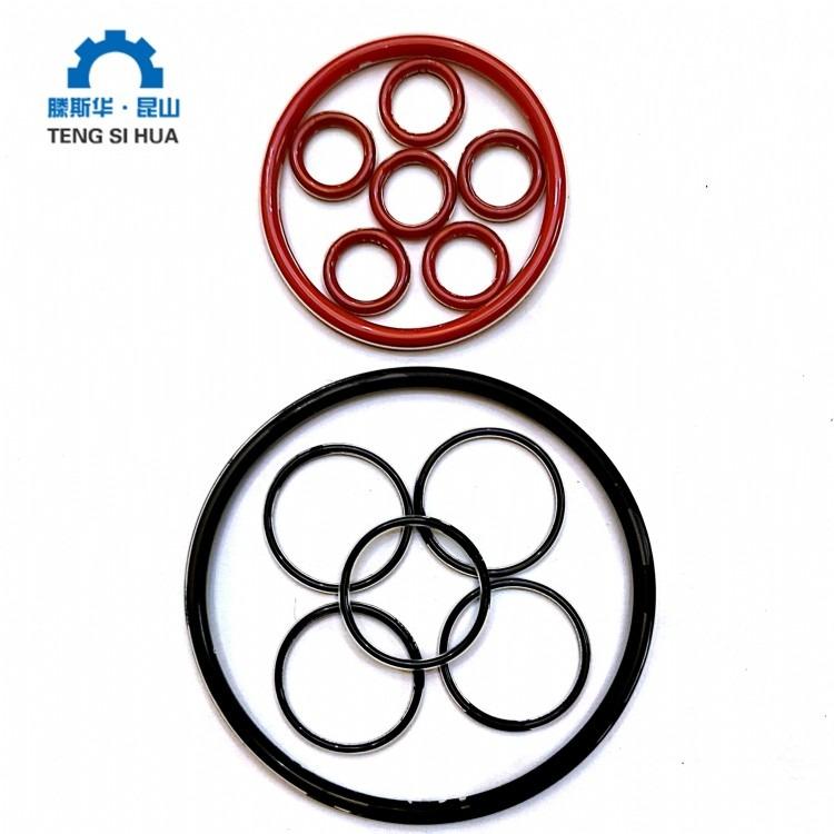 包氟o型圈 厂家直销生产 高质量高密封 红色包氟o型圈 黑色包氟o型圈
