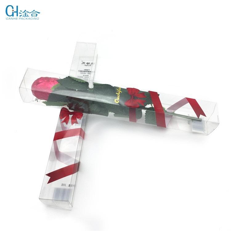 定制PVC胶盒 透明塑料玫瑰花巧克力食品礼品茶叶包装盒 定制