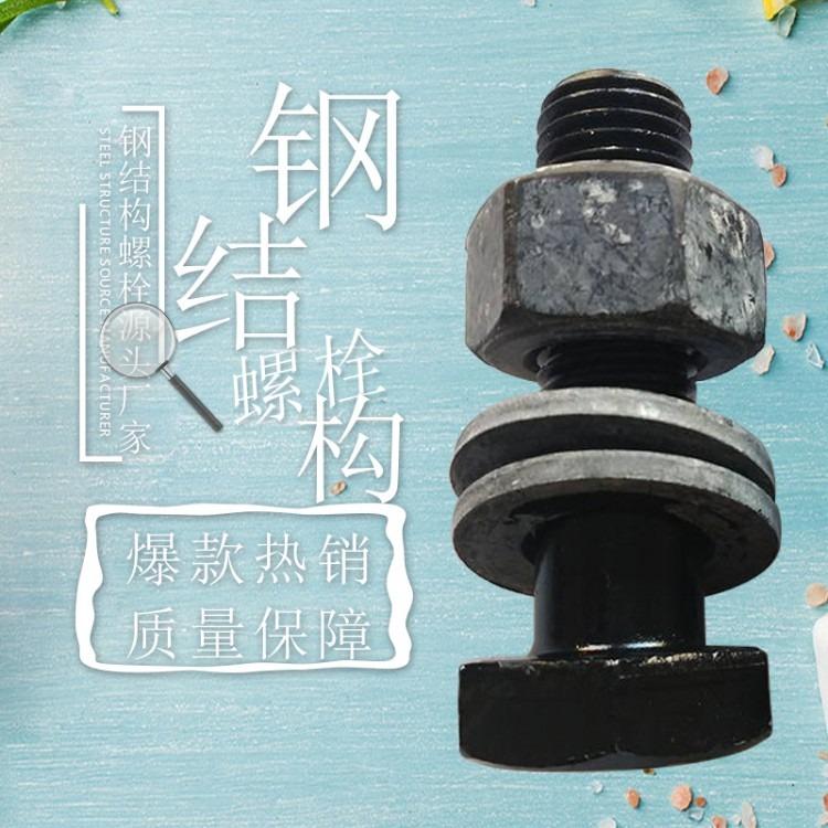 钢结构螺栓厂家直销 国标钢结构螺丝 钢结构大六角螺栓10.9级