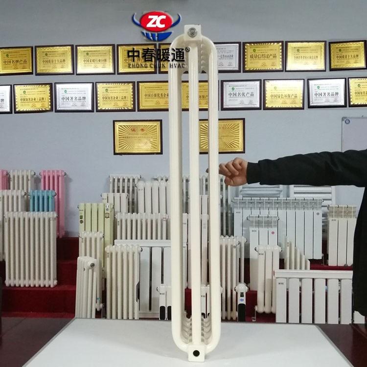厚壁钢制弯管三柱型散热器GGZ305串联好还是并联好