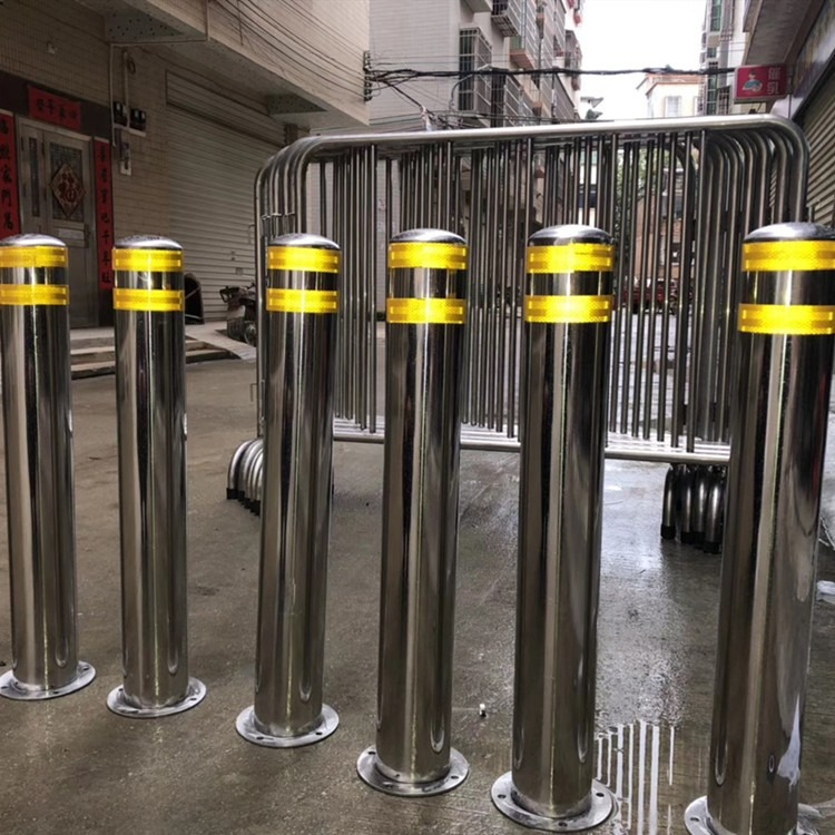 固定式防护桩304不锈钢材质隔离柱道路护栏可定制
