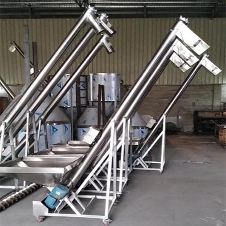 广东佛山文丰螺杆上料机 3米螺旋式螺杆加料机 粉料、颗粒螺杆上料机厂家