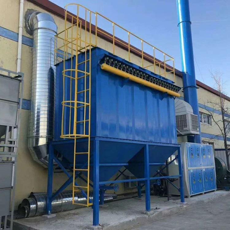 耀明批量供应 电厂小型JBC-45扁布袋除尘器 单机袋式除尘器 碳钢板 烧结板钢厂除尘器设备