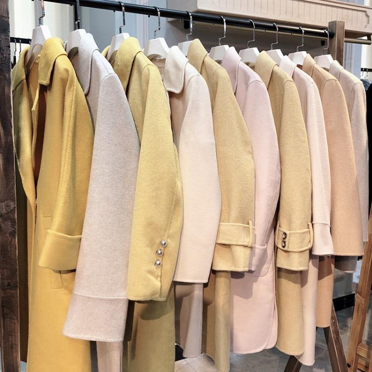 【佳莉绮】19年新款双面羊绒大衣 品牌折扣女装货源批发