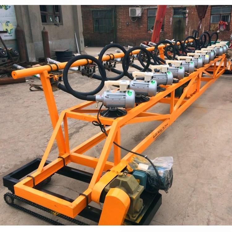 供应混凝土排式振捣机 自动行走混凝土排振机 三滚轴振捣机