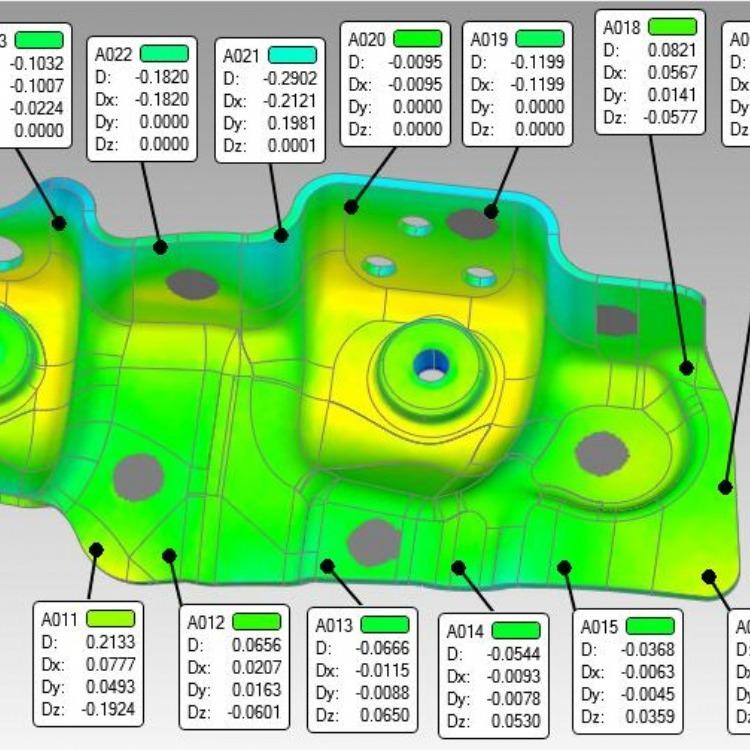 3D扫描仪对比检测宝马零件作新能源考究