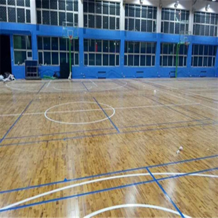篮球馆木地板制造品牌  体育场运动木地板 浴室阳台地板 双鑫体育