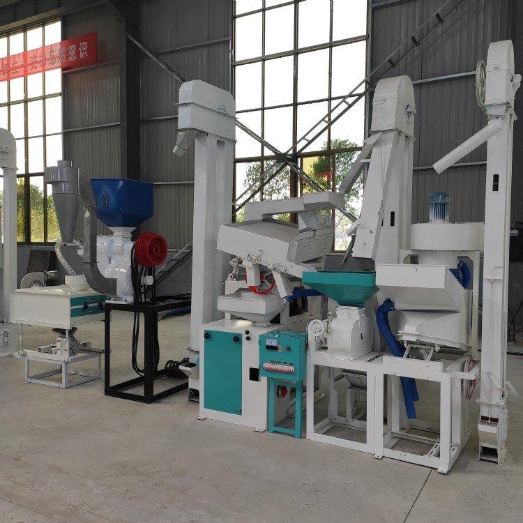 大米加工设备 操作简单安全易懂 全自动上料设备可组合成套碾米机设备